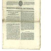 Boletín oficial de la provincia de Teruel.nº 52 al 60 del mes de julio. (1838)