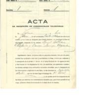 Acta de recepción de credenciales (1936)