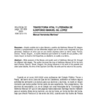 Trayectoria vital y literaria de Ildefonso Manuel Gil López