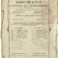 Libro de acuerdos del Ayuntamiento de Cutanda del año 1877-1878.