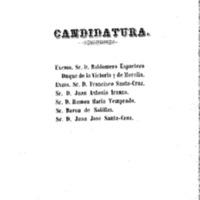 Candidatura y carta a los electores. Calamocha 24 de septiembre de 1854
