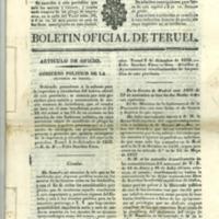 Boletín oficial de la provincia de Teruel. nº 96 al 103  de diciembre (1838)