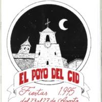 Programa de fiestas del Poyo del  Cid .1995