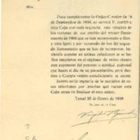 Correspondencia  del ayuntamiento de Lechago. 1935-1936