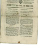 Boletín oficial de la provincia de Teruel .nº 70 al 77 de septiembre (1838).
