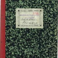 Libro de caja  de la Asociación de trabajadores de la tierra.(1933-1936)