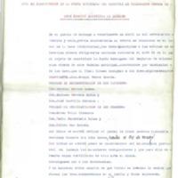 Acta de constitución de la junta encargada  del registro de la colocación obrera (1936)