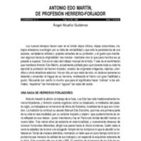 Antonio Edo Martín, de profesión herrero-forjador