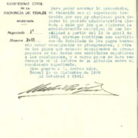 Correspondencia  del ayuntamiento de Lechago.1936