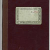 Libro de actas de recaudación del casino luquense