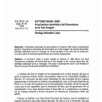 Antonio Naval Mas: arquitectura doméstica del Somontano en el Alto Aragón