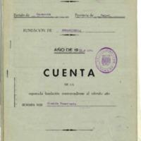 Cuentas de la Fundación de beneficencia (1936-1942)