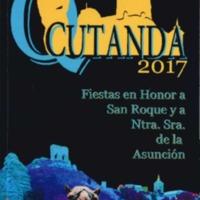 Programa de fiestas de Cutanda del año 2017.