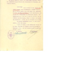 Certificado  de servicios médicos prestados en el hospital de Calamocha (1916-1923)