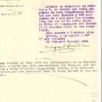 Relación de fusiles  recogidos por la comandancia de la guardia civil (1937)
