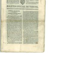 Boletín oficial de la provincia de Teruel. nº 87 al 95 de noviembre (1838).