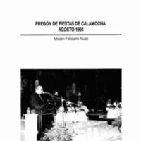 Pregón de fiestas de Calamocha. 1994