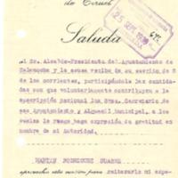 Recaudación para el ejercito y fuerzas armadas (1936)