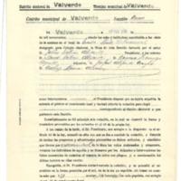 Acta de la mesa formada en Valverde para la elección  de diputados a corte (1936)