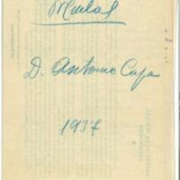 Cuotas del Médico  por las extracciones de muelas a los soldados (1938).