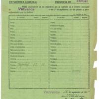 Hojas declaratorias de superficies y productos agrícolas , distribución de cupos (1930-1955)