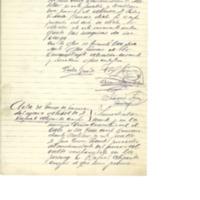 Acta de cese del alcalde  Pedro Gracia plana y toma de posesión  de Rafael Alijarde Crespo (1936)