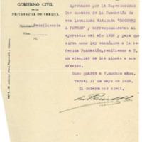 Correspondencia del ayuntamiento de Lechago.1938