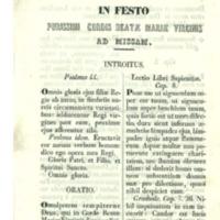 In festo purissimi cordis  Beatae Mariae Virginis <br /><br /> Ad missam