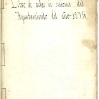 Libro de acuerdos del Ayuntamiento de Cutanda del año 1874.