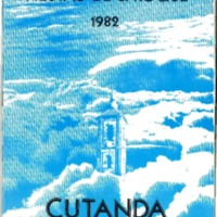 Programa de  fiestas de Cutanda .1982