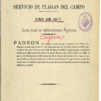 Padrón del servicio de plagas del campo (1937)