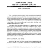 Ramón Pardos Lacruz : Cestero calamochino en activo