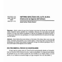 Historia geológica del Alto Jiloca (Cuencas de las lagunas de Cañizar)