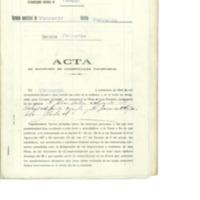 Recepción de credenciales para elección de compromisarios (1936)
