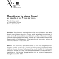 Matemáticas en las rejas de Monreal: un estudio de los 7 tipos de frisos