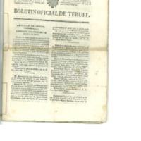 Boletín oficial de la provincia de Teruel . nº 34 al 42 de Mayo (1838).