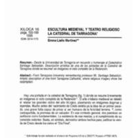 Escultura medieval y teatro religioso : La catedral de Tarragona