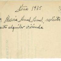 Solicitud  por parte de los maestros al ayuntamiento para que se hagan cargo de los  gastos  de las viviendas   que les han sido asignadas. (1935-1937)