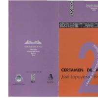 2º Certamen de arte José Lapayese Bruna