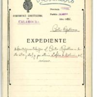 Información sobre  datos solicitados por el  Centro Republicano de Calamocha  sobre bienes  comunales, ferrocarril....Y oficio de disolución de dicho centro. (1931-1933)
