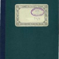 Libro que contiene la contabilidad del centro radical republicano de Luco de Jiloca (1932)