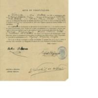 Acta de constitución de la junta de subsidios familiares para la agricultura (1939)