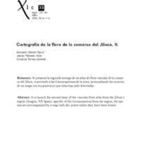 Cartografía de la flora de la comarca del Jiloca. II