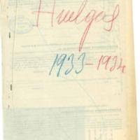 Notificación de  jornada de huelga por parte de los trabajadores de la tierra (1933)