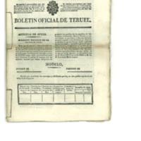 Boletín oficial de la provincia  de Teruel.nº 26 al 33 de abril .(1838)