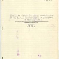 Lista de aportaciones  para sostenimiento de las tropas destacadas   en el termino de Cosa (1936)